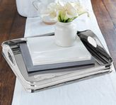 Pottery Barn Mallory Polished Silver Square Tray