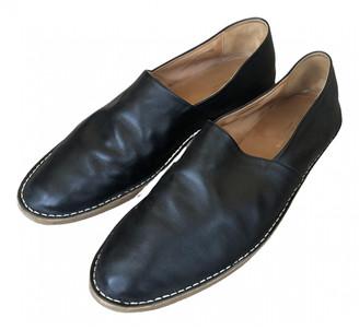 Dries Van Noten Black Leather Flats