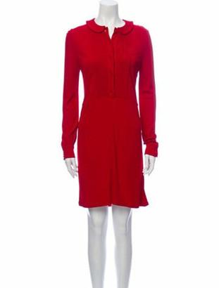 Saint Laurent 2013 Mini Dress Red