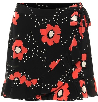 RED Valentino Floral silk shorts