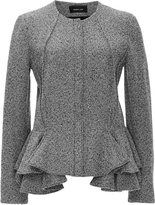 Derek Lam Tweed Jersey Peplum Hem Jacket