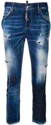 DSQUARED2 Ripped Skinny Crop Jeans