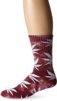HUF Men's Tie Dyed Plantlife Crew Sock