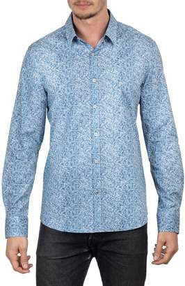 English Laundry Big Tall Regular-Fit Faded Floral Button-Down Shirt