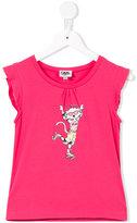 Karl Lagerfeld cat print T-shirt - kids - Cotton/Spandex/Elastane - 4 yrs