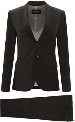 DSQUARED2 LONDON PANTSUIT 42 Grey Wool