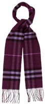 Burberry Cashmere Fringed Scarf