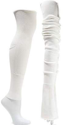 Rick Owens Ribbed Cotton-blend Arm And Leg Warmers