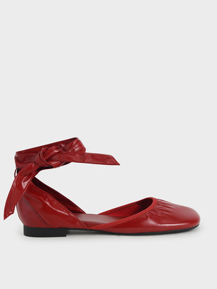Charles & Keith Limited Edition: Patent Tie-Around D'Orsay Flats