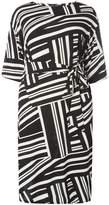 Dorothy Perkins DP Curve Black Geo Belted Dress
