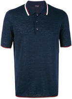 Kiton contrast stripe polo shirt - men - Silk/Linen/Flax - L
