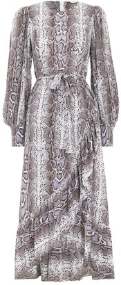 Zimmermann Silk Ruffle Wrap Dress