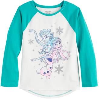 Disneyjumping Beans Disney's Frozen Elsa, Anna & Olaf Toddler Girl Raglan Tee by Jumping Beans