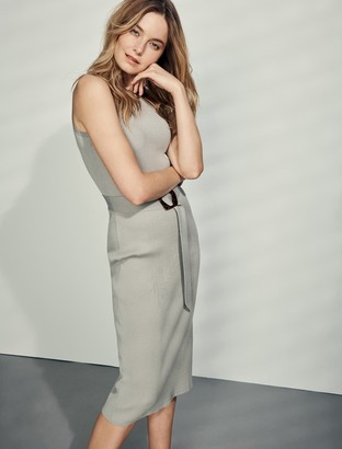 Forever New Imogen Sleeveless Midi Knit Dress - Sage - 12
