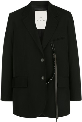 Song For The Mute Djebel-print oversized blazer