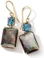 Ippolita 18k Gold Rock Candy Gelato Topaz & Black Shell Earrings