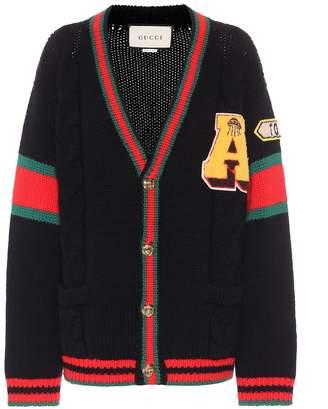 Gucci Appliqued wool cardigan