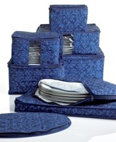 Hudson Homewear Fine China Storage Set, 8 Piece Navy Damask
