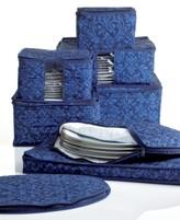 Hudson Homewear Homewear Fine China Storage Set, 8 Piece Navy Damask