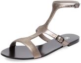 RENVY Women's Flat T-Strap Sandal