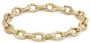 David Yurman Continuance Small Twisted Cable Chain Bracelet In 18K