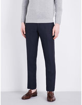 Paul Smith Regular-fit Tapered Linen-blend Trousers