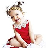 Fheaven Toddler Kid Baby Girls Backless Straps Rompers Jumpsuits Piece Pants Clothing (18/24M, Red)