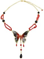 Butterfly & Coral Necklace