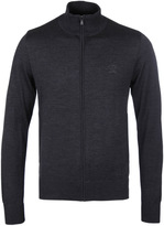 Paul & Shark Charcoal Grey Zip Through Sweater