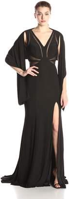 Jovani Jvn By JVN by Women's Black Jersey Fitted Dress 2