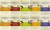 Yardley London Naturally Moisturizing Bath Soap, Set of 5 Scents, 4.25 Ounce Bars (Pack of 10 Bars)