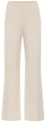 Joseph High-rise flared wool pants