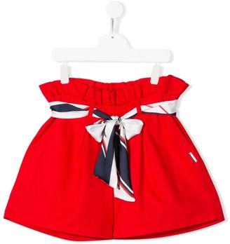 Msgm Kids TEEN ribbon-tie shorts