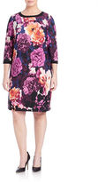 Eliza J Plus Floral-Print Shift Dress