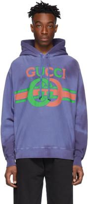 Gucci Blue Logo Hoodie