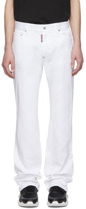 DSQUARED2 White Bootcut Jeans