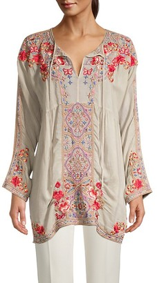Johnny Was Alora Embroidered Tunic Blouse