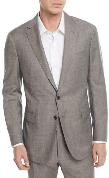 Ralph Lauren Sharkskin Two-Piece Wool Suit
