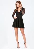 Bebe Taylor Lace V-Neck Dress