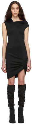 Helmut Lang Black Front Drape Dress