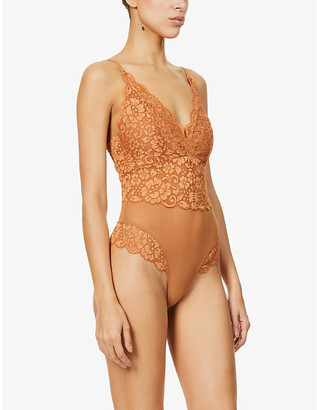 We Are HAH Smarty Pants stretch-lace and mesh body