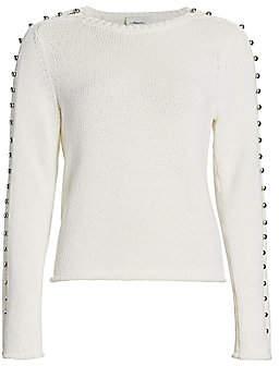 3.1 Phillip Lim Women's Embellished-Sleeve Sweater