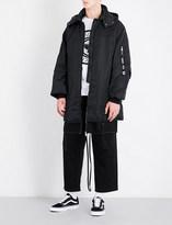 Boy London Eagle tape-print hooded shell jacket