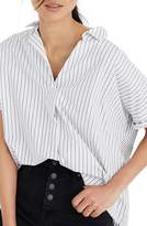 Madewell Courier Stripe Play Button Back Top