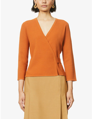 Diane von Furstenberg Landon V-neck wrap stretch-jersey cardigan