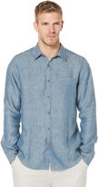 Cubavera 100% Linen Long Sleeve 1 Pocket Button Down Shirt