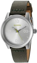 Nixon Women's 'G.I.' Quartz Stainless Steel and Nylon Automatic Watch, Color:Green (Model: A9642232-00)