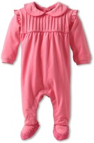 Armani Junior Bow One Piece w/ Footie Detail (Infant) (Pink) - Apparel