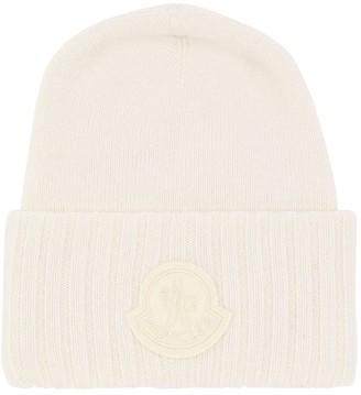 Moncler Logo Wool Tricot Knit Hat