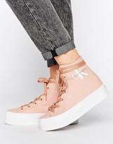 Calvin Klein Jeans Zabrina Blush Canvas Hi Top Sneakers